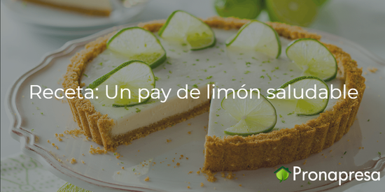 Receta: Un pay de limón saludable