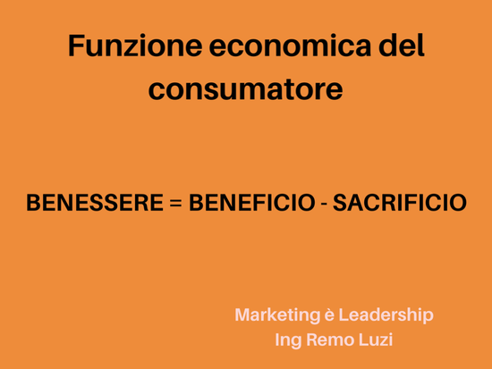 funzione economica del consumatore - marketing e leadership - remo luzi