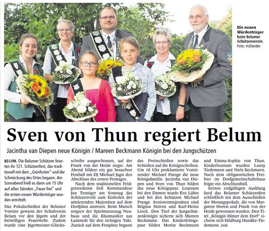 Bericht der Niederelbe-Zeitung vom 3. Juli 2018