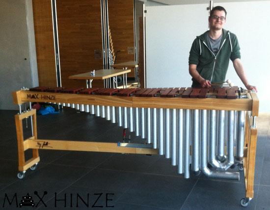 selbstgebautes Marimbaphon mit mir, Max Hinze selbst gebautes Marimba selbstgebautes Marimbaphon DIY, Urs Scheller