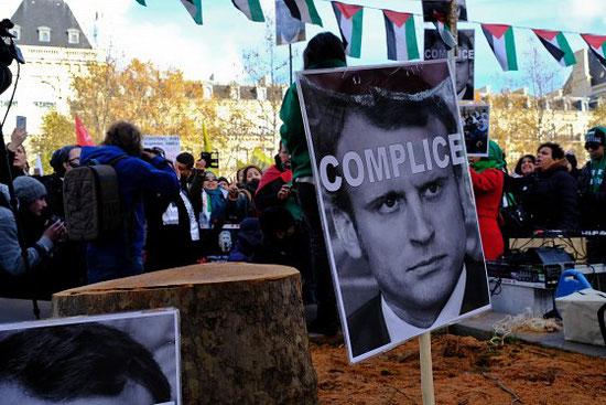 Manifestation du 9 décembre 2017 à Paris contre la venue de Benyamin Nétanyahou. Anthony Deperraz/Newzulu/Alamy Live News