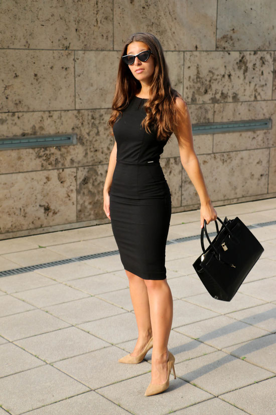 by Carmen Schubert Modeblog orsay schwarzes Etuikleid business dress