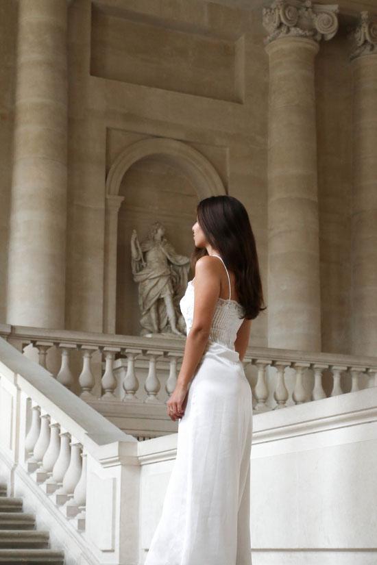 by Carmen Schubert Zara satin lingerie white dress