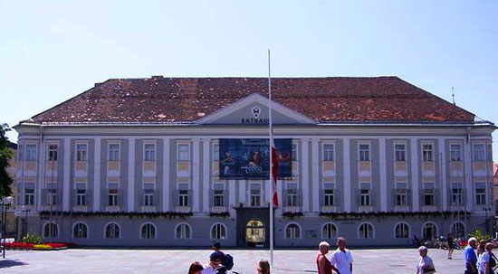 Former Palais Orsini-Rosenberg at Klagenfurt (Carinthia, Austria)