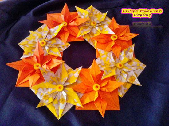Origami - Star - Wreath