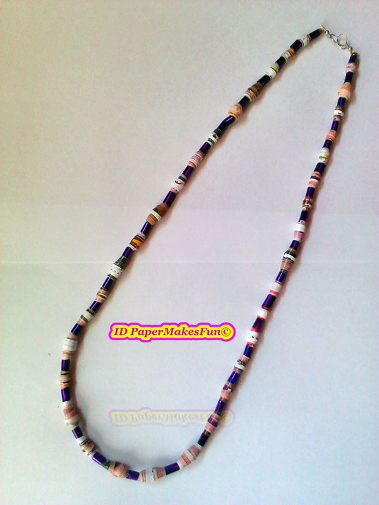 Paper - Beads - Necklace