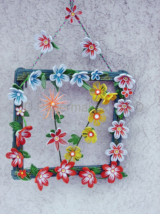 Paper Quilling - Flowers at a Frame