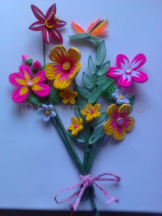 Paper - Quilling - Flower Arrangement