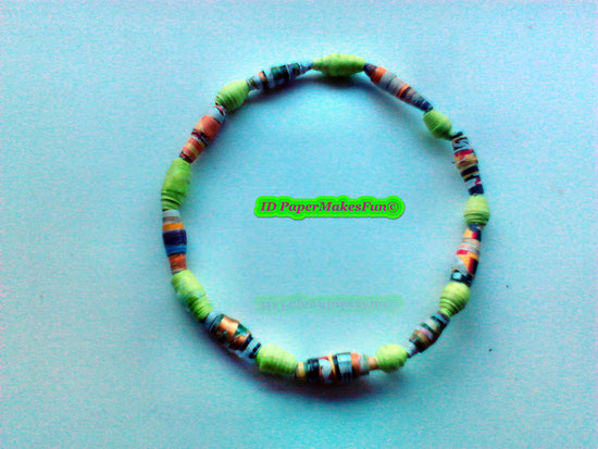 Paper - Beads - Bangle