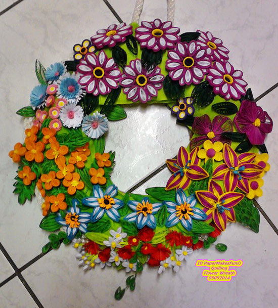 Quilling - Flower - Wreath