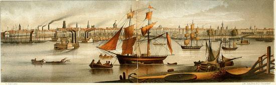 New Orleans - der Hafen um 1850