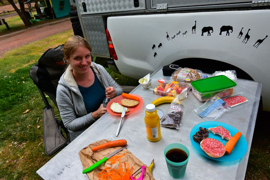 Camping-zNacht ohne Braai, auch das geht