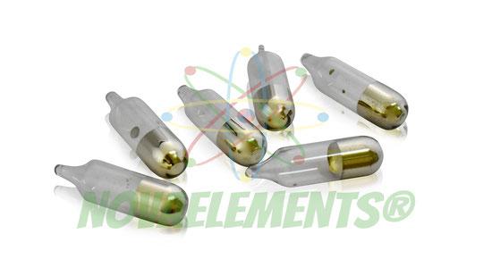 cesio metallico, cesio elemento da collezione, cesio metallo, cesio ampolla da collezione, nova elements cesio