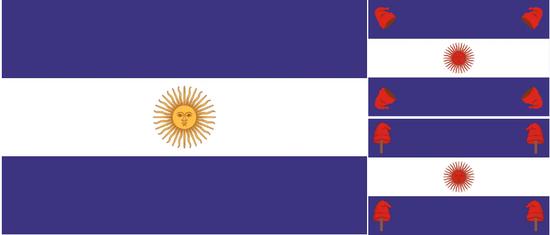 banderas de la campaña al desierto, de Buenos Aires y de la Confederación Argentinaa.