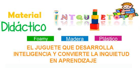 Material Didactico Madera Foamy Plastico Intquietoys www.Primerdi