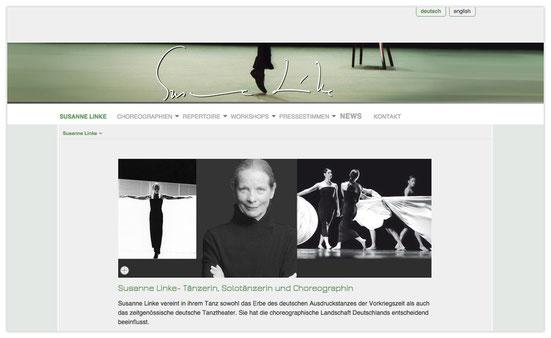 Website von Susanne Linke, Webdesign: Artwork3, Heidemarie Franz