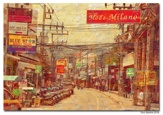 #painting #collage #thailand #bangkok #street #strassen #divosantino #2018 #asia #asien #travel