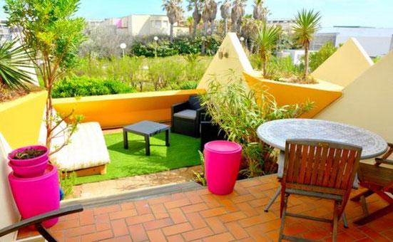 Appartement terrassse en location au Vilage Naturiste du Cap d'Agde