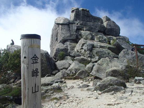 金峰山のガイド登山