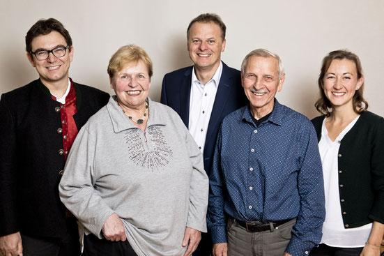 v. l. n. r.  Bernhard Lederer, Marianne Trischberger, Klaus Zimmermann, Claus Koch, Anna-Sophie Grätz