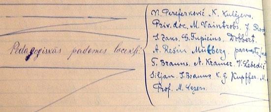 ИЕ-3. Аттестат зрелости Хаи Иоффе с перечислением всех членов педагогического совета в 1923 г.