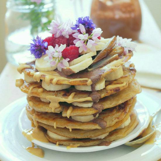 Leckere vegane Pfannkuchen