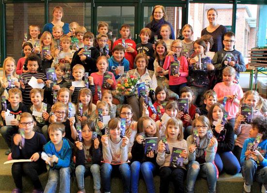 Lesung für die 3. Klassen der Grundschule Oldendorf am 23.3.2017  Es hat allen viel Freude gemacht!