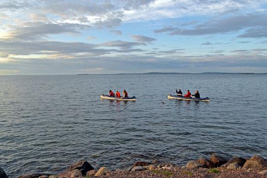 Kanu-Tour auf dem Vättern-See.