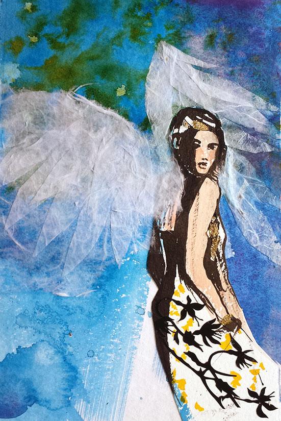 Engelbild, Kleiner Engel in Blau #Engel