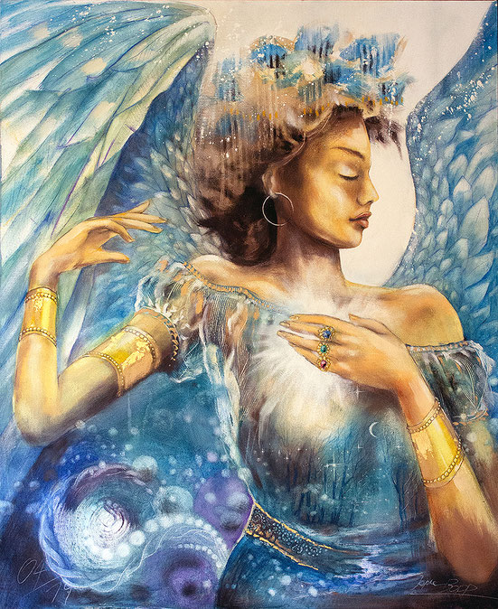 Engelbild, Engel der Träume, Leinwandbild #Engel #Träume