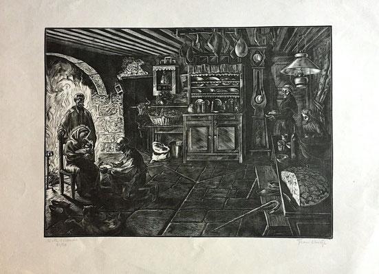 Jean Chieze, Noel vivarois, bois  debout, 240 x 330.