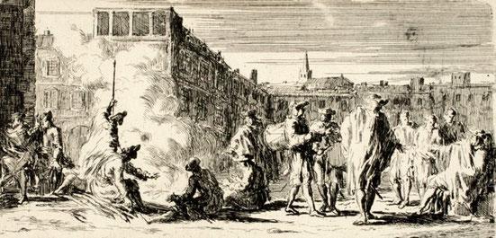Joseph Parrocel, Soldats au bivouac, 8,8 x 16,3 cm.