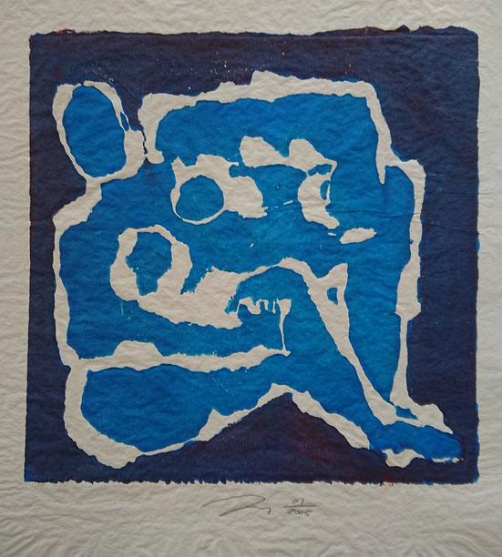 Yves Olry, monotype, 2005, 29 x 29 cm