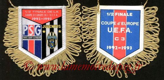 Fanion PSG-Juventus Turin  1992-93