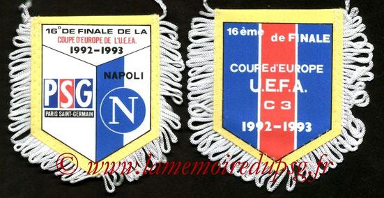 Fanion PSG-Naples  1992-93