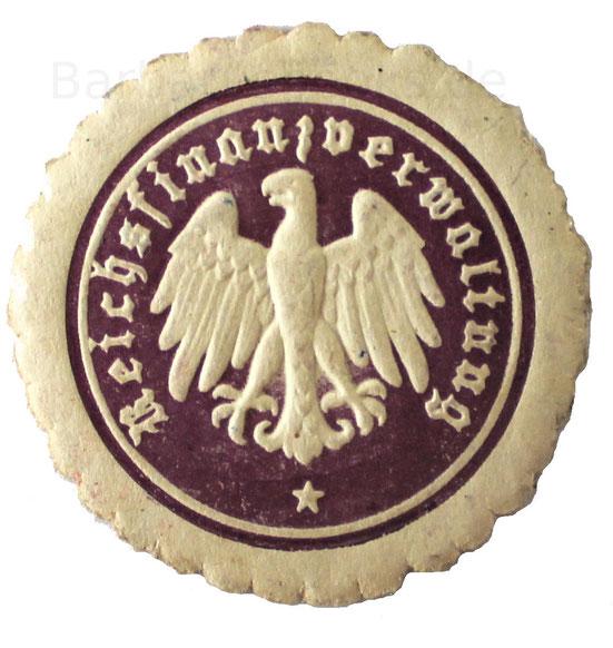 Papiersiegel der Reichsfinanzverwaltung