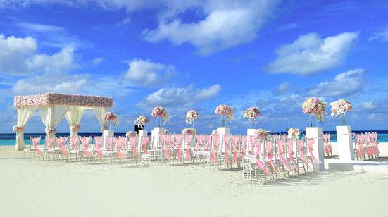 Heiraten Malediven Hochzeit Flitterwochen buchen Traumhochzeit