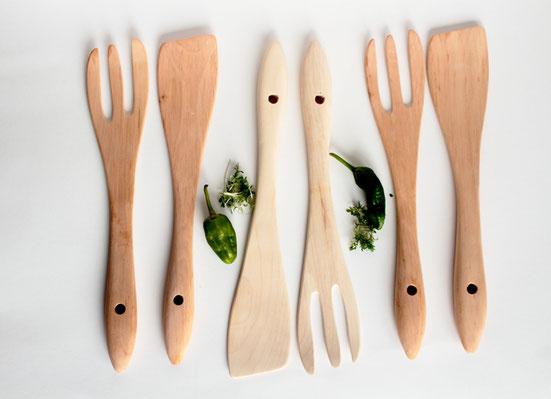 Salatbesteck dür den Gartenfest