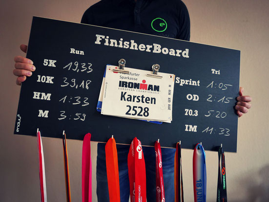 Medaillenhalter für Laufen und Triathlon