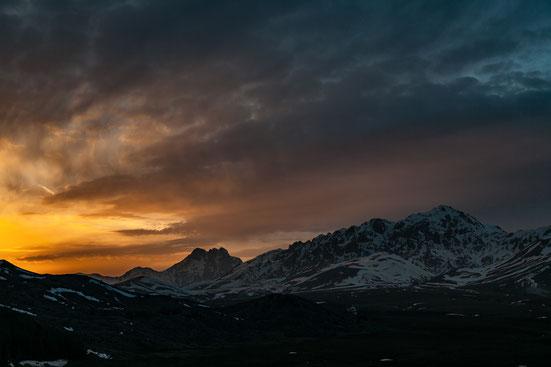 tramonto sul Gran Sasso
