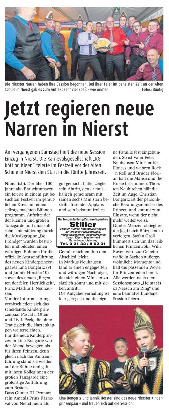 Meerbuscher Nachrichten 19.11.2014