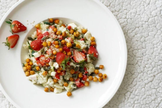 Sommerlicher Minz-Couscous Salat I frisch, gesund & lecker