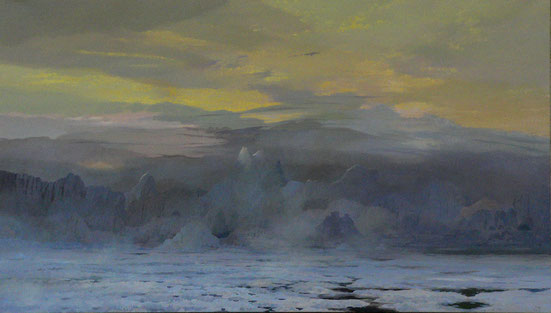 """Martin Guido Becker, """"Eismeer"""", 2009, Öl/Lwd, 100/160 cm"""