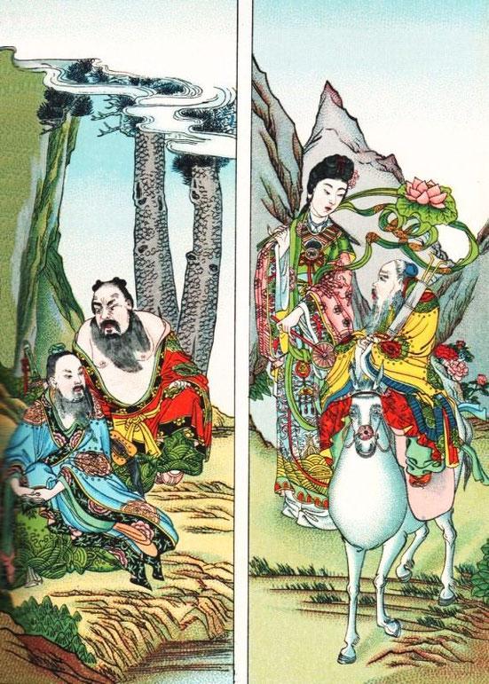 Les Pa tsien Huit Immortels. Cf. Henri Doré, Superstitions en Chine, Tome IX. Taoïsme.