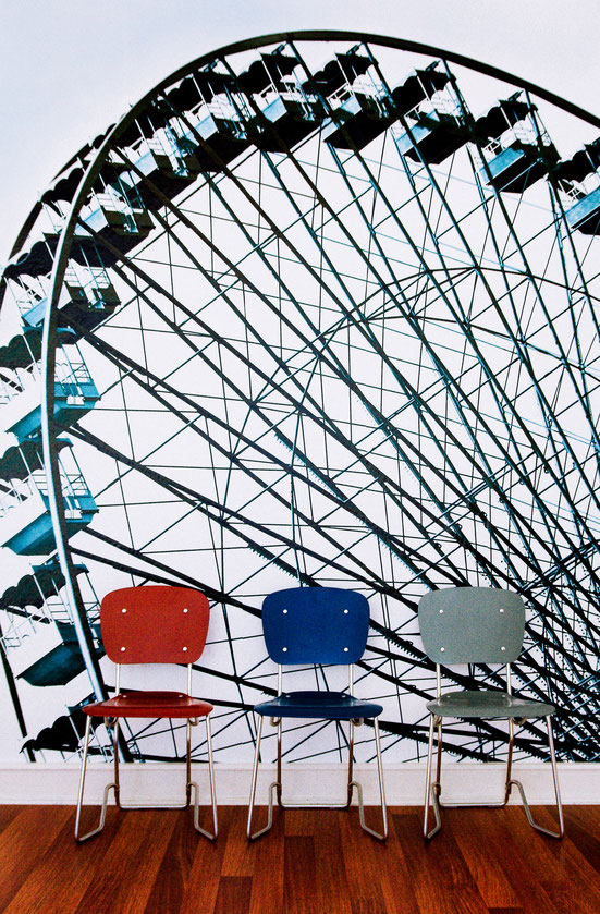 Tapete The Wheel, petrol - Riesenrad Tapete bei time to GOHOME
