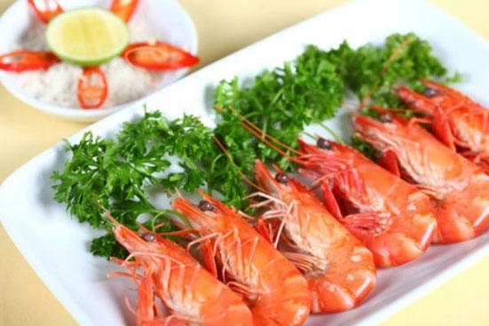 hải sản tôm biển không nên ăn