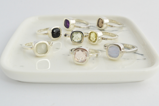 bagues en argent et pieres fines - rings in sterling silver and gemstones