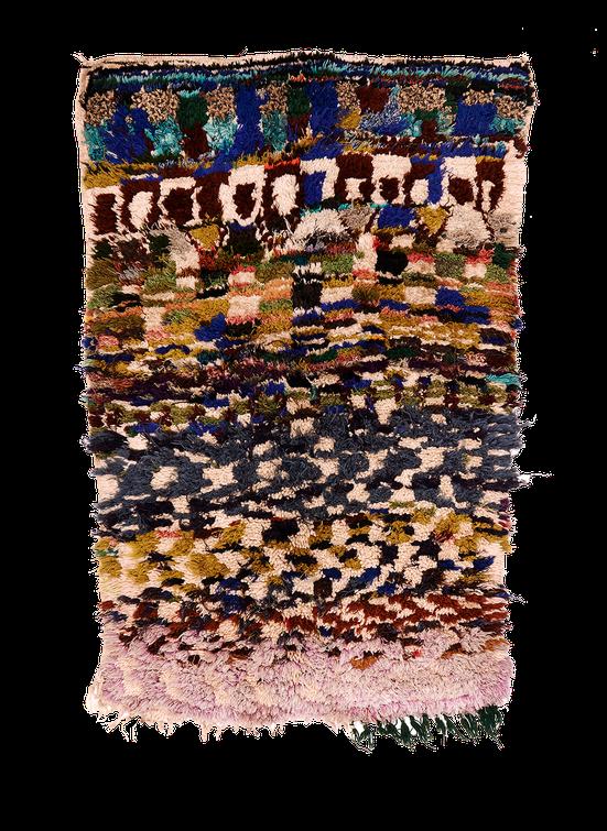 Teppich. Zürich. Vintage Boujad Rug, Morocco. Handgeknüpfter Teppich aus Marokko.