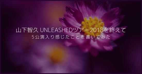 【感想】山下智久 UNLEASHEDツアー2018を終えての感想。5公演入り感じたことを書いてみた