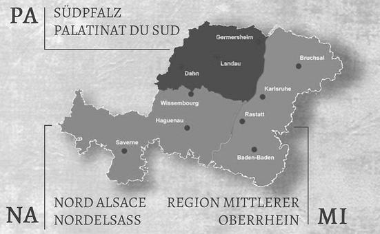 Pamina Karte Unsere Region Südpfalz, Nordelsass, Mittlerer Oberrhein sind die Euroregion Pamina - PaminaVita